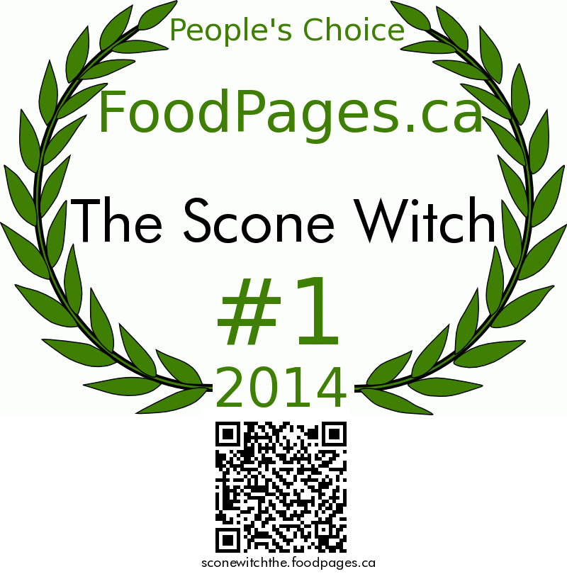 The Scone Witch FoodPages.ca 2014 Award Winner